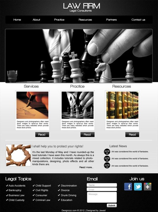 Create a Law Firm Web Design