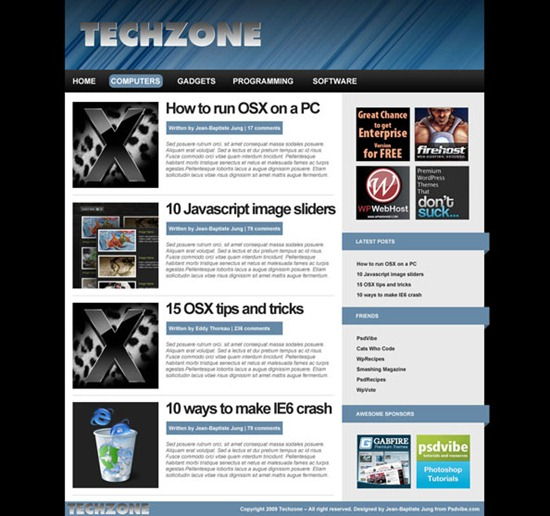 Creating a tech blog layout in Adobe Photoshop