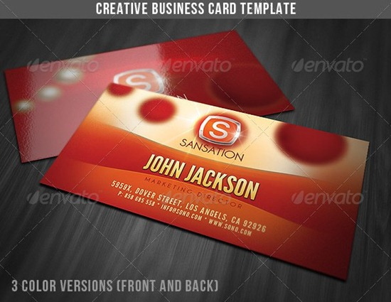 Creative Glamorous Business Card