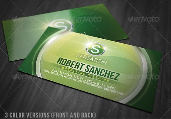 Creative Glossy Business Card