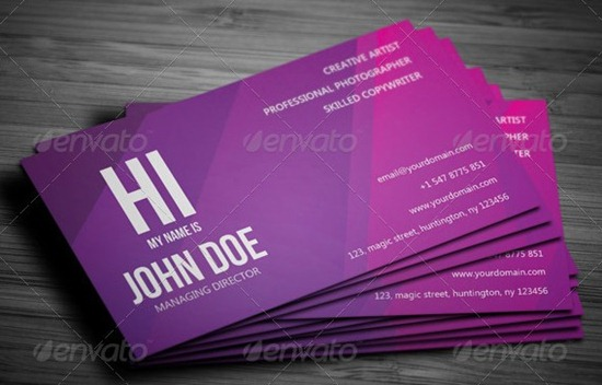 Creative Violet Business Card – 02