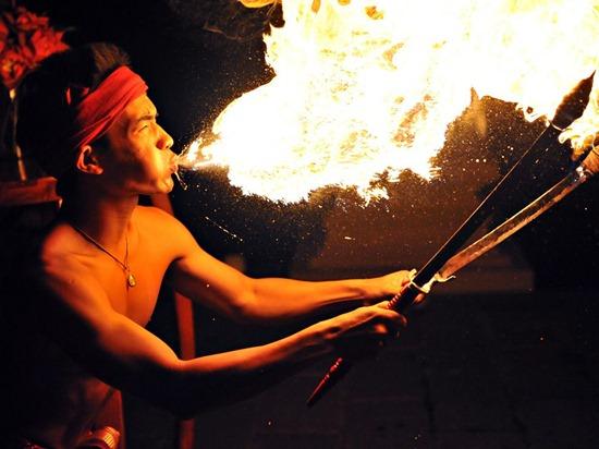 Fire Performer, Thailand