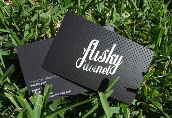 Flisky dot net business cards