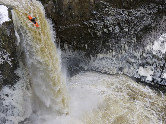 Kayaker, Outlet Falls