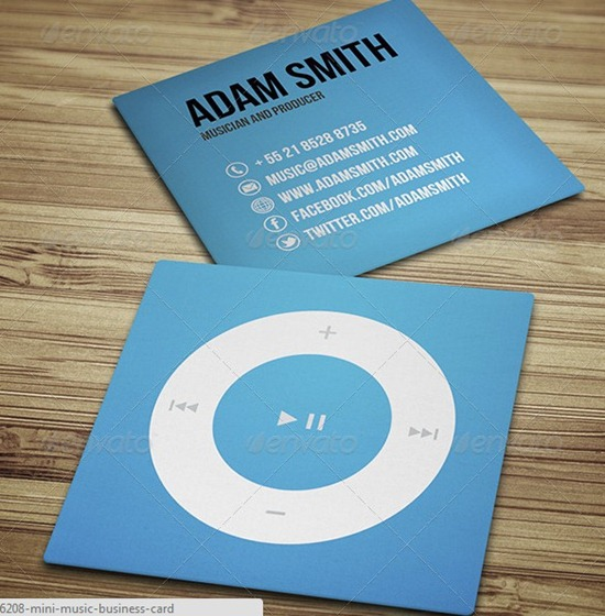 Mini Music Business Card