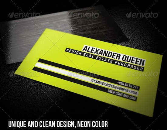 Neon Wood Business Card