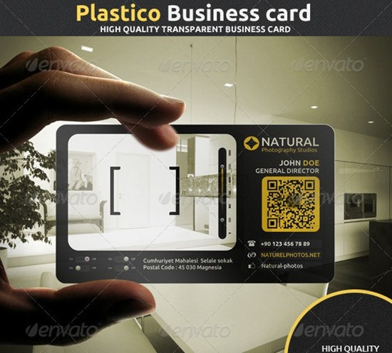 Plastico corporate business card