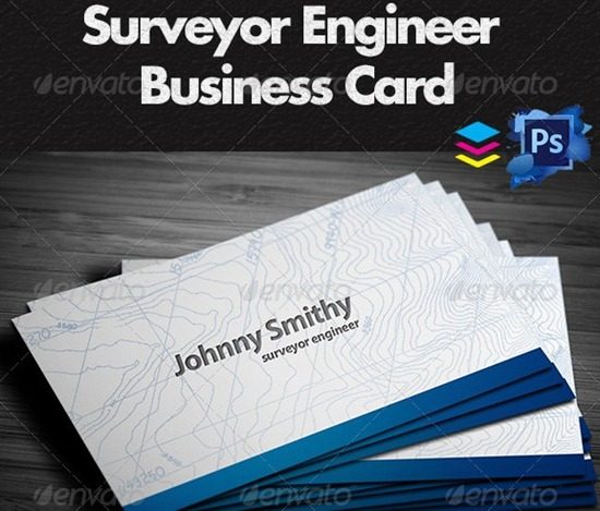 Surveyor Business Cards