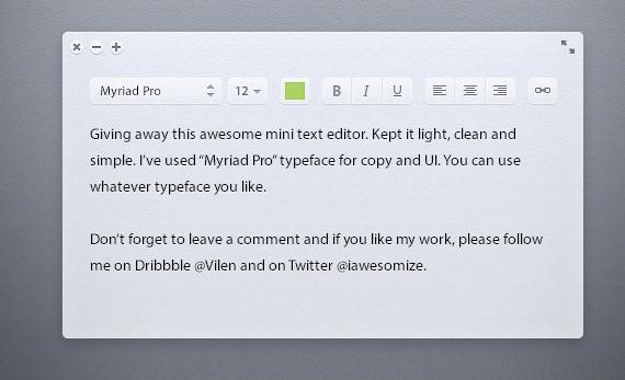 Light Text Editor
