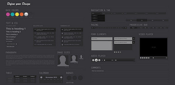 Midnight UI Kit PSD