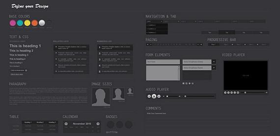 Midnight UI Kit PSD
