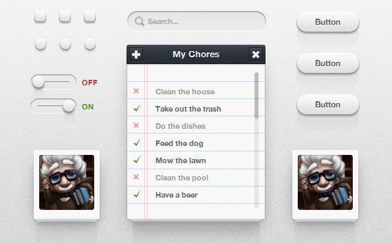 Icon Deposit CSS3 UI Kit (PSD+CSS)