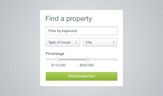 Neat & Clean Property Search Widget