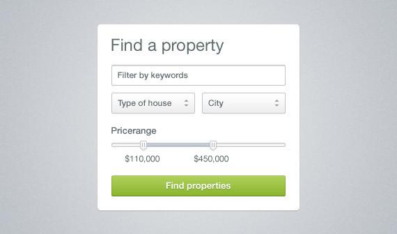 Neat & Clean Property Search Widget