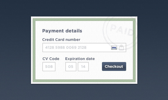 Tastefully Clean Checkout Form