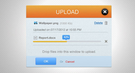 Upload Interface PSD