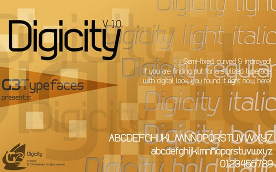 Digicity-font-for-your-design