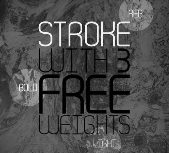 Stroke-free-font