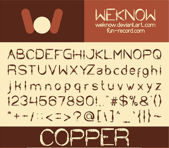 copper font by weknow