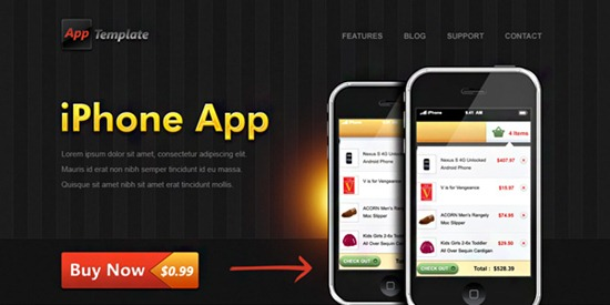 23-iphone-app-web-template