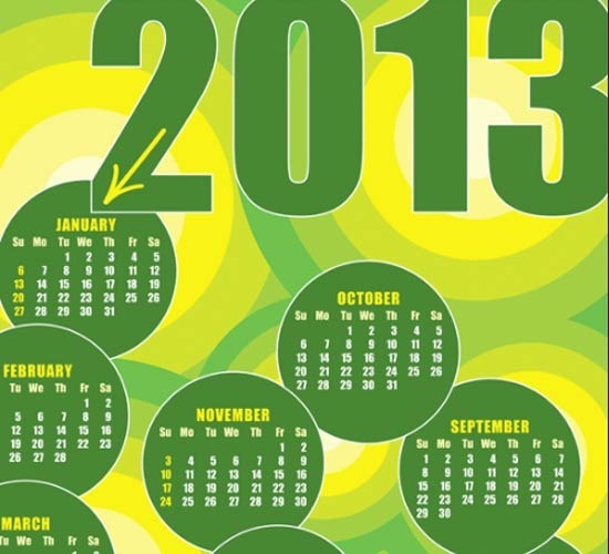 28-calendars-design-elements