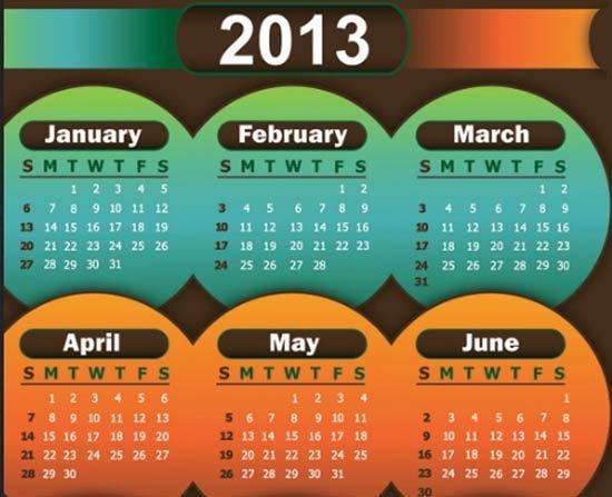 31-2013-calendar-vector