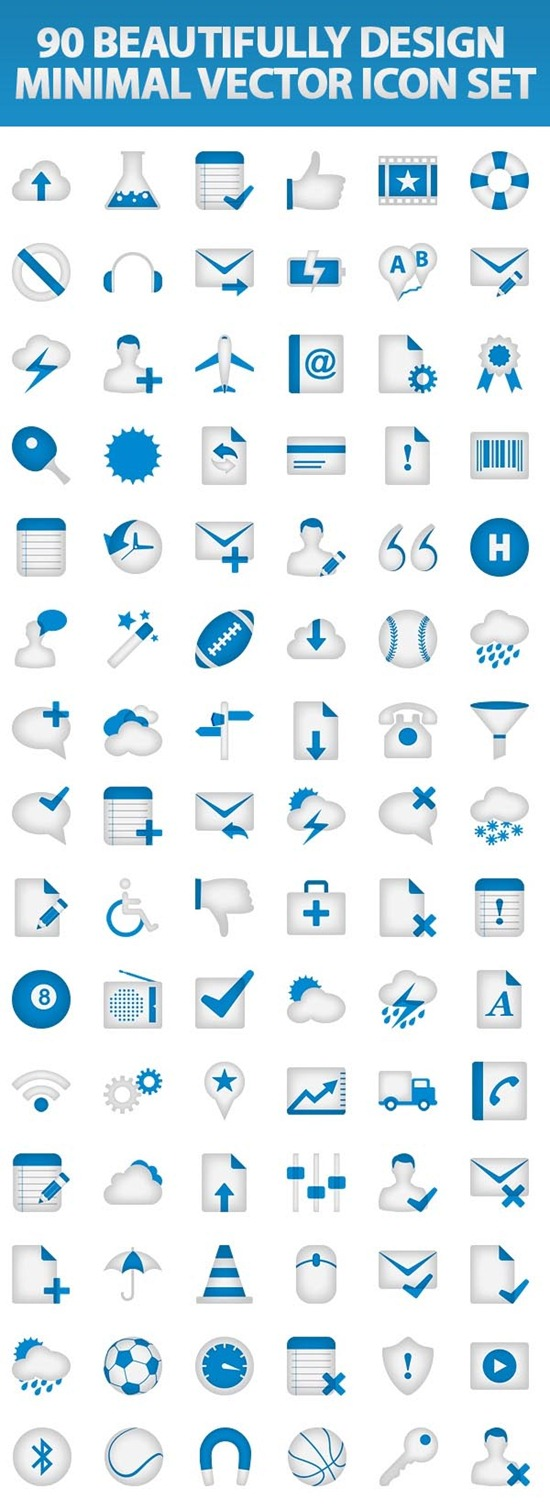 Beautifully Design Minimal Vector Icon Set