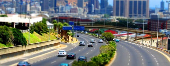 African-Highway-Tilt-Shift