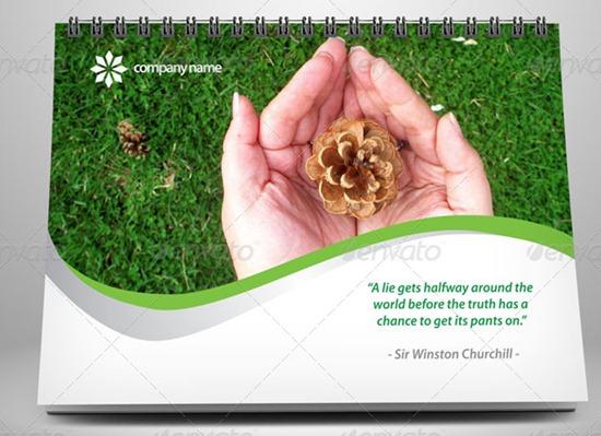Calendar-2013-Green-Template