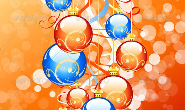 Attractive balls vector background