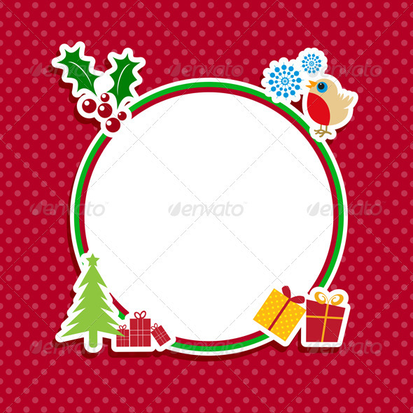 Cute Christmas background with space for text