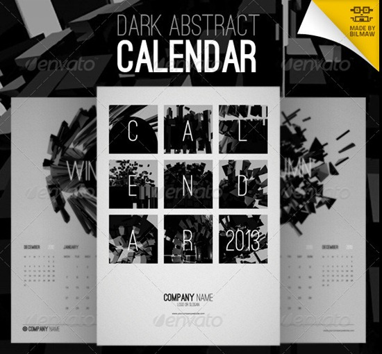 Dark-Abstract-Calendar