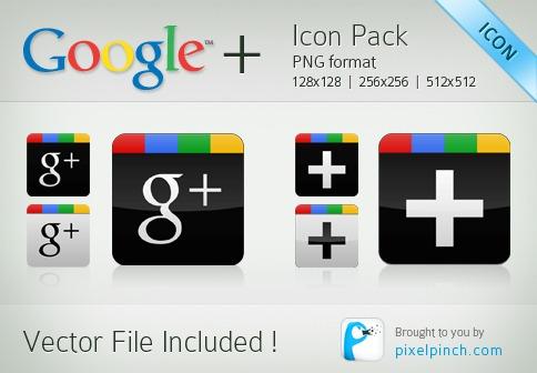 Google-Plus Vector-Icon-Pack