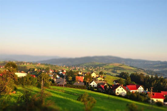 Tilt-shift-village