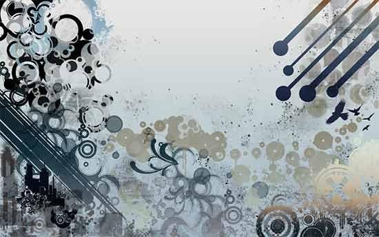 Vectors-and-grunge-wallpaper