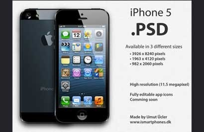 apple-iphone-5-psd