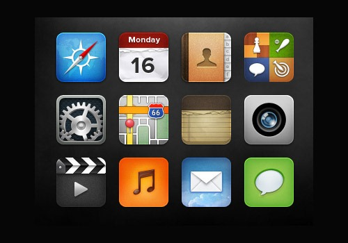 iOS Icon Pack by Michael Shanks