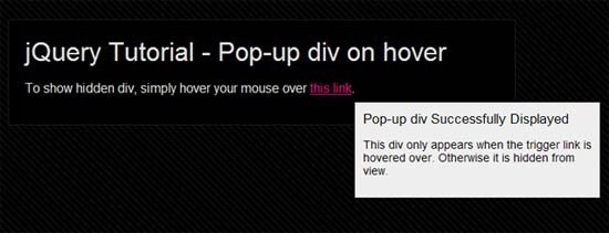 jQuery-Pop-up-div-on-hover