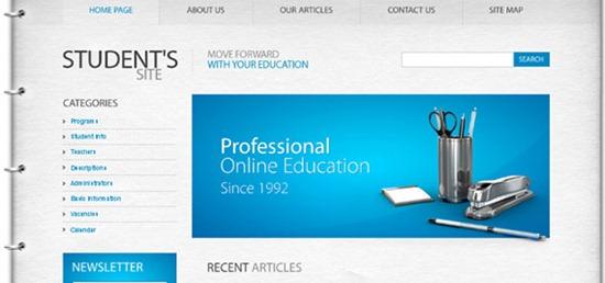 student-webdesign-template-psd