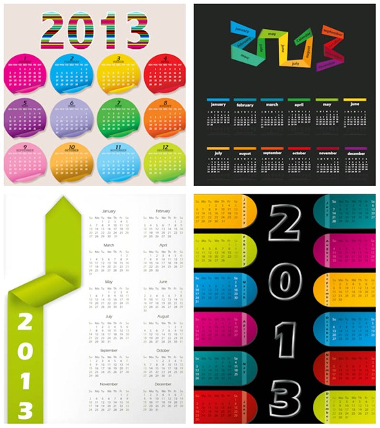 stylish-2013-calendar-mockups-vector