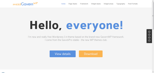Gavernwp Free WordPress Theme