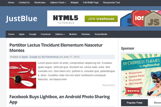 JustBlue-free-wordpress-theme-2012