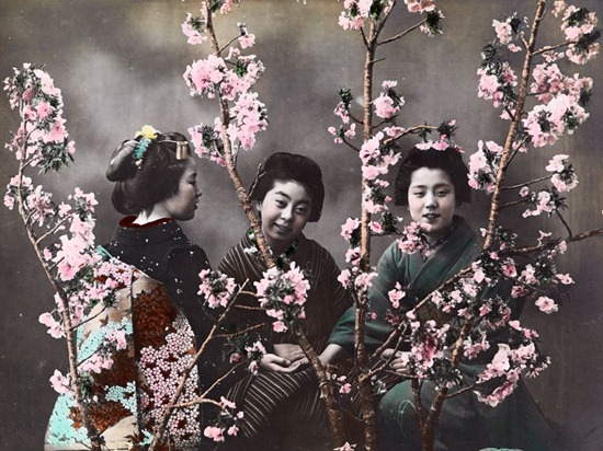 Women-With-Cherry-Blossoms-Japan