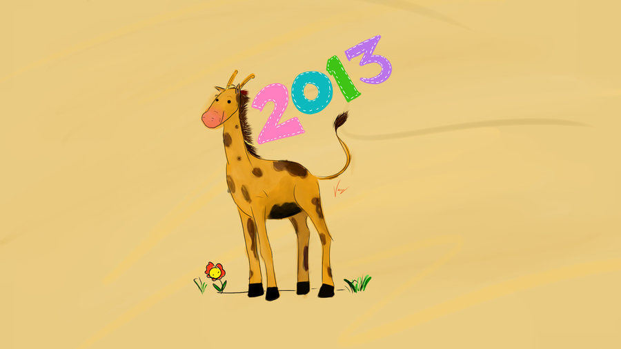 artwork-giraffe-new-year-2013-wallpaper
