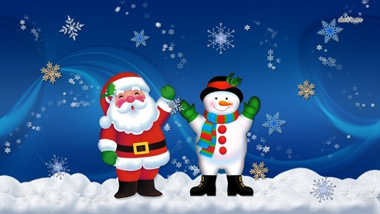 santa-and-frosty-christmas-wallpaper