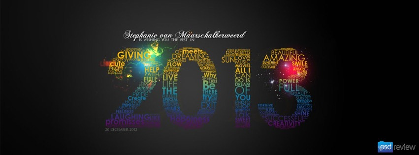 25 Creative Happy New Year 2013 Facebook Timeline Covers Psdreview