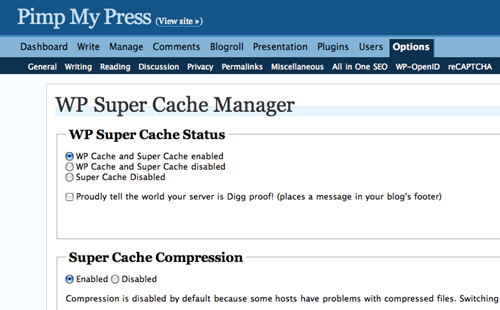 WordPress Super Cache