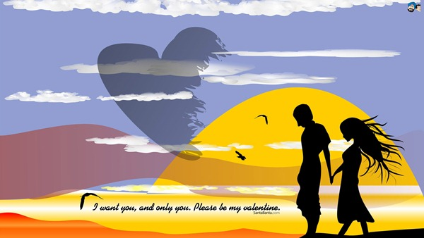 I Want You Valentine Day Wallpaper