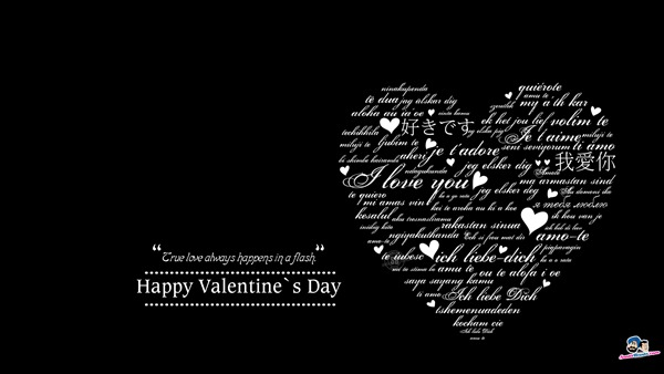 True Love Always Valentine Day Wallpaper