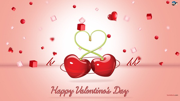 Valentine Day Cherry Wallpaper 2013